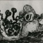 Bowery Suite #43, 1991, Drypoint with Chine Collé, 6 x 8 inches, Gift of Helena Starcevic