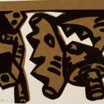 Brown Saw, 2006, Photo etched relief print and chine collé, 9 x 11 inches, Printed by David Wolfe, Wolfe Editions, Portland, Maine. For more information or to reserve your limited edition print, conatct the museum at museum@bates.edu or 207-786-6158.