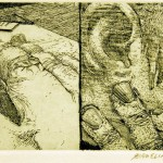 Robert Birmelin,  Two Sets of Fingers,  etching, Gift of Arnold Smoller '51