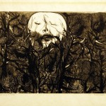 Leonard Baskin,  Death Among the Thistles,  wood engraving, Gift of Arnold Smoller '51
