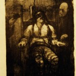 George Bellows, Electrocution #48, 1917, lithograph, Gift of Caroline Pulsifer Ehrenfest '39
