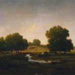Theodore Rousseau,  Souvenir du bois d'Arcy,  1857, oil on panel, Gift in Memory of Helen Trafton Gutmann