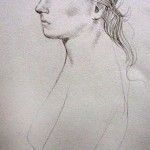 DeWitt Hardy,  Nude Model in Profile,  graphite, Gift of Dr. Robert A. '36 and Minna F. Johnson