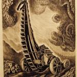 Wanda Gag,  Stone Crusher,1929, lithograph, Gift of Caroline Pulsifer Ehrenfest '39