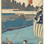 "Toyokuni III, ""Shingawa"" from the 53 Stations of the Tokaida Series"
