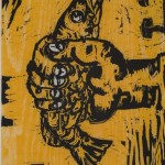 Hand Out from Relief Portfolio, 1992, Woodcut, 23 ¾ x 18 inches, Gift of Patricia Nick