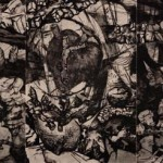 The Heartland, 1993, Drypoint (Triptych), 35 ½ x 72 inches, Published by Vinalhaven Press