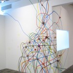 Eric Hongisto, untitled (theory of Tumbleweeds), 2004. Acrylic and yarn balls 132 x 200 x 3 inches