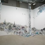 Nicola Lopez, Vertigo, 2005. Courtesy of Caren Golden, New York. Mixed media, 10 x 14 feet enclosed space 12 x 8 x 14 feet