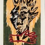 Pequot, 1986, Woodcut, 35 x 24 inches, Published by Vinalhaven Press, Gift of Vinalhaven Press