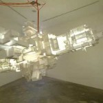 "Jason Rogenes, DreamWeaver, 2004. Found polystyrene, fluorescent light, 68"" x 112"" x 130"" x 2"""