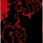 Spanish Labor, 2003, Woodcut, 29 ¾ x 23 ¾ inches, Gift of the Artist