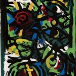 Spruce, 1988, Woodcut, 48 ½ x 32 ½ inches, Published by Vinalhaven Press, Museum Purchase