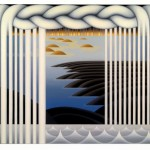 Repetition and Difference, oil, bronze leaf on canvas, 36x46 inches, 2005