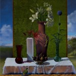 Still Life After Bellini, 2003, oil on canvas, 50 x 40 inches
