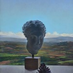 Classical Head with Landscape, 2005, oil on panel, 9 ½ x 7 inches, Courtesy of Greenhut Galleries