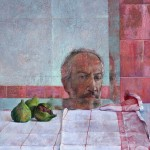 Self-Portrait, Figs, 2004, oil on panel, 20 x 16 inches, Courtesy of Greenhut Galleries
