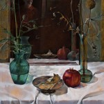 Self-Portrait, Persimmon, 2005, oil on panel, 19 x 14 inches