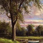 Delbert Dana Coombs,  Boats at Lake Auburn, 1898, Oil on canvas