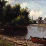 Delbert Dana Coombs -  Red Row Boat - 1898 - Oil on Canvas