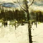 William Thon, Maine Winter, 1990, Watercolor