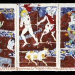 Apollo & Marsyas, 2007, gouache on paper, 18 ¼ x 33 ¾ inches