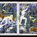 Diana & Actaeon, gouache on paper, 18 ¼ x 45 1/16 inches