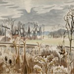 Charles Burchfield, Charles-Railroad in November,1953, watercolor, 22.5 x 32.25 inches