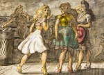 Reginald Marsh, On the Boardwalk, Coney Island,1946, tempera,22 x 30 inches