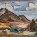 Marsden Hartley,Mountains, New Mexico,1919, oil,13 x 31 inches