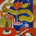 Marsden Hartley, Still Life with Eel, 1917, oil, 30 x 25 inches
