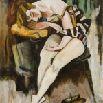 Walt Kuhn,Walt-Sleeping Girl,1922, oil54 x 42 inches