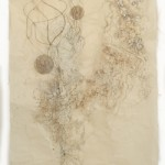 Alison Hildreth,  Untitled, 2011,  graphite and ink wash on Japanese paper,  72x38 in