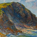 Charkes H. Woodbury, The Cliff 1929, 29 x 36 inches