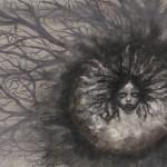 Mareika Phillips,  Growth, 2010,  Acrylic and gouache on canvas,  8 x 10 inches