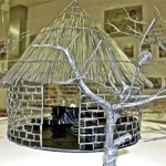 Clyde Bango, IMBA YEUSWA (Straw-thatched House), 2011, Galvanized Wire, 19x19x19 inches