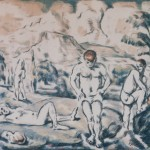 Paul Cezanne, Les Baigneurs, 1898, color lithograph, Gift of Caroline Pulsifer Ehrenfest, Class of 1939