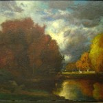 George Inness, A Pond in Autumn, oil on canvas, Gift of Mr Louis Prang Roewer