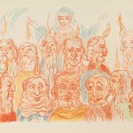 James Ensor (Belgian, 1860-1949), from the portfolio Scènes de la vie du Christ, 1921 Color lithograph on paper, 9.78 x 12 1/2 in. (25.1 x 31.7 cm.), private collection.