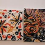 Kelsey Dion untitled, glazed ceramic tile, 4x4