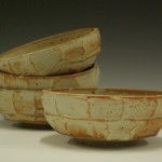 Catherine Elliott, untitled, glazed stoneware bowls, reduction fired to cone 10