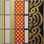 Sophy Min, Khin Ohnmar Min, oil paint, acrylic paint, fabrick and glitter, 60x60