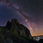 Babak Tafreshi (Iran) Alamut Starry Night, archival inkjet print, 24 x 23 inches  Wollman 80