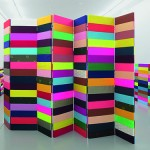 Figures, Colours First, 2011, folding screens, panels, various fabrics, Galerie Expeditie, Amsterdam