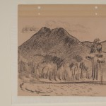 Marsden Hartley, Mount Katahdin no 4, 1939, charcoal on paper