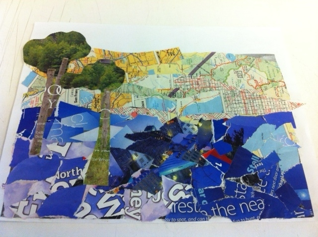21st century students create collage | Museum of Art | Bates College