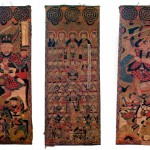 Yao, Set of three Daoist Shaman Scroll Paintings, 1900, ca. 46 x 18 inches each