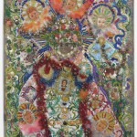 Thomas Lanigan-Schmidt (b.1948) The Infant of Prague as a Personification of Liberation Theology, 1986, Mixed media on panel, Collection International Collage Center, Gift of the artist
