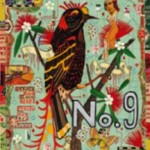 Tony Fitzpatrick (b.1958), Orange and Black Bird: Portal to the Mercy of Autumn, 2012, Mixed media on paper, 10 ½ x 7 ½ inches, Courtesy the artist