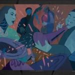 Robin Holder, Louisiana Jumpstart the Night 4, 2005, Stencil monotype, Gift of Robin Holder